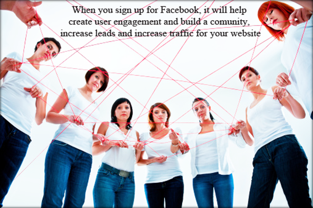 Facebook helps in social media optimization to build engagement and community