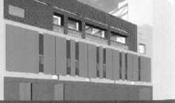 Architect's  drawing of the new Anthony Genovesi Center to be constructed at the Remsen Street downtown campus of St. Francis College. It is named for the late district leader of the Thomas Jefferson Democratic Club and State Assemblyman from Canarsie's 39th A.D. A groundbreaking ceremony will take place to mark the beginning of construction at the site on June 14th. College Prtesident Frank Macchiarola said it is the first phase of revamping plan.