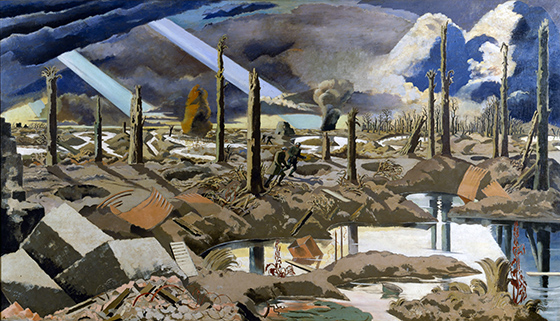 Paul Nash, The Menin Road, 1919, oil on canvas, 1828 x 3175 mm
