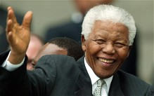 Former South African president Nelson Mandela in 2004