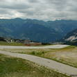 The sloped runway at Courchevel (up to 18% !), Europe's highest tarmac runway.