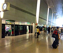 MRT Singapore at the Airport