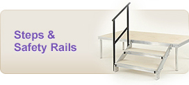 steps and safety rails