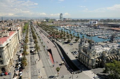 old port district in Barcelona