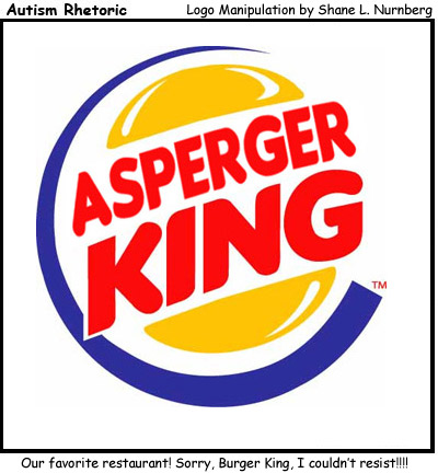 Autism Rhetoric: Asperger King logo