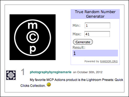MCP Actions contest prize giveaway