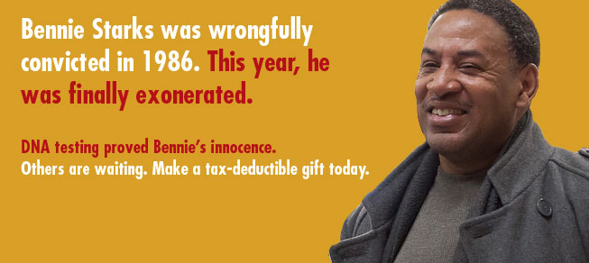 Bennie Starks was wrongfully convicted in 1986. This year, he was finally exonerated.
