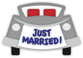 Just Married Car cut file