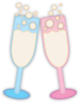 Champagne Glasses cut file