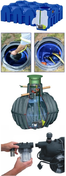 HydroForce pump rainwater pumps for flat tanks, deep dig