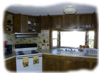 Fully equipped kitchen at LnD Hideaway in Oshkosh, NE.