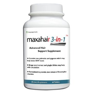 Maxahair is a hair loss supplement that can assist in the growth of hair.