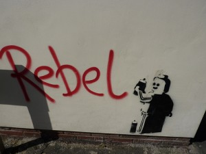 Rebel graffiti