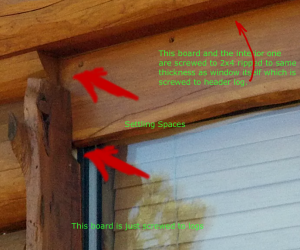 How to install a window in a log home.