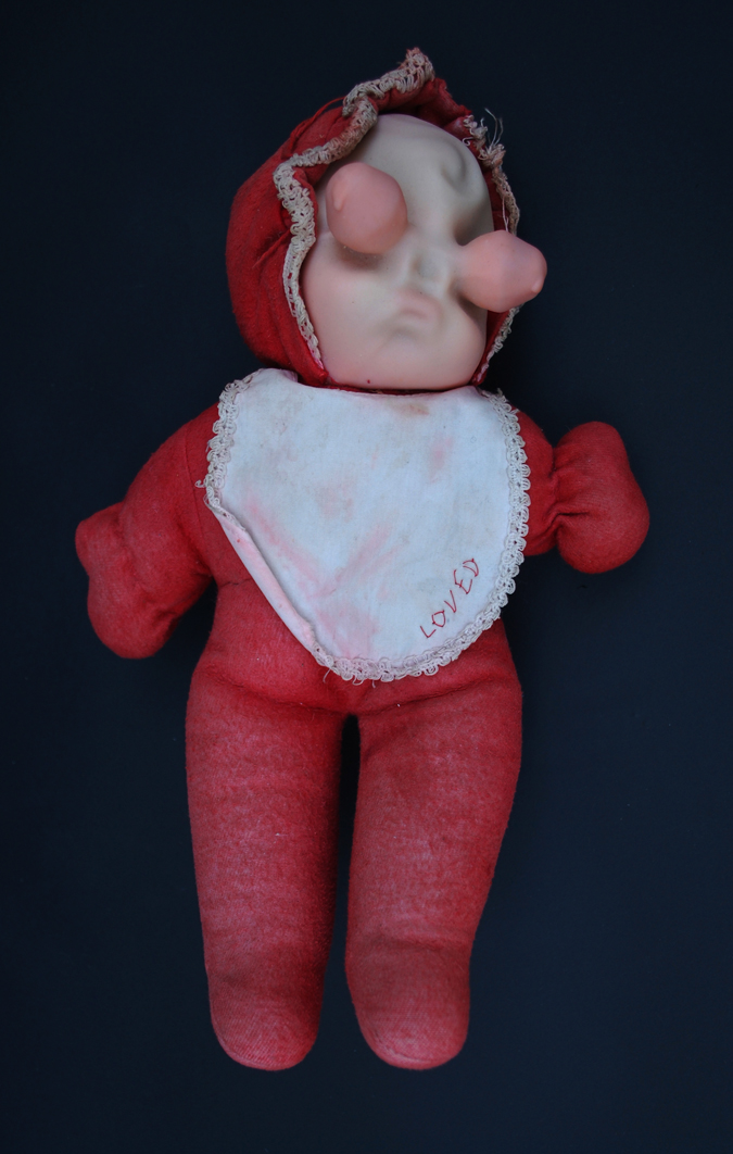 'Loved' Found and altered doll