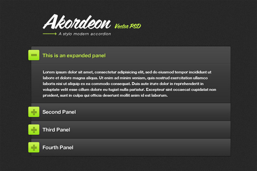 Stylish jQuery Accordion Plugin (FREE) Akordeon