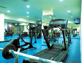 Gym in Ramada Plaza Corinthia Aquincum Wellness Hotel in Budapest Hungary