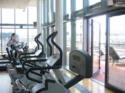 Gym in Five star Hilton Hotel Budapest WestEnd Hungary