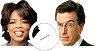Introduction to Donorschoose.org with Oprah and Steven Colbert
