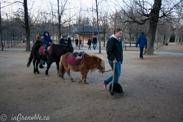Jardin Luxembourg Paris France pony ride