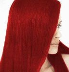 Deep red hair color dye