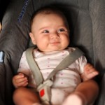 Baby traveling in car seat