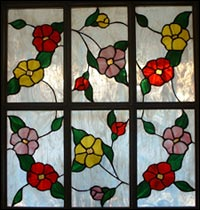 stained glass of flowers