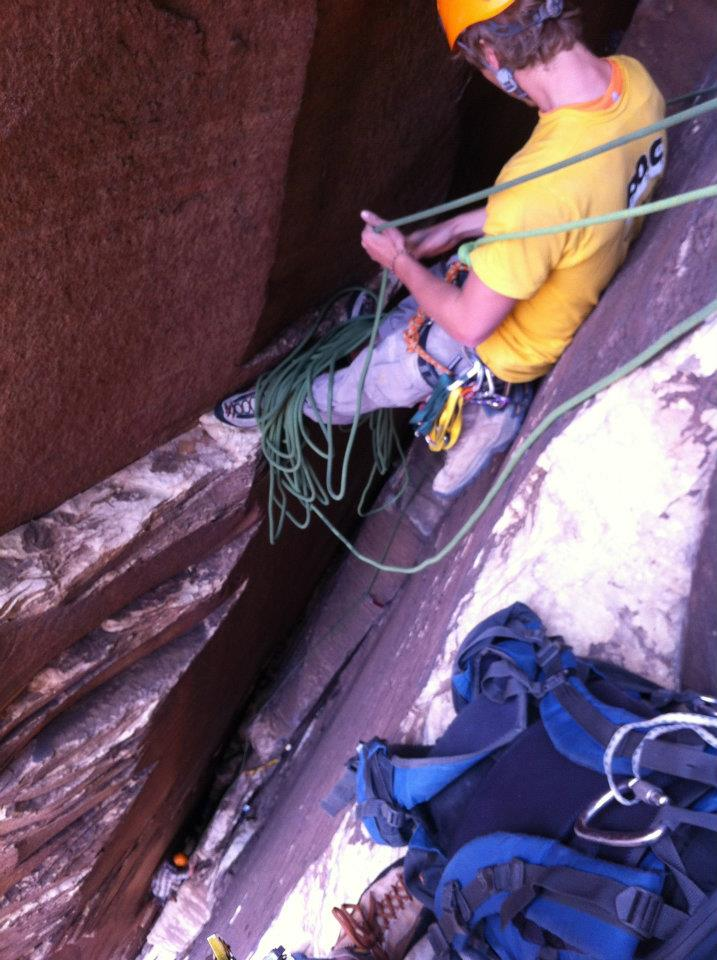 Nice belay ledge