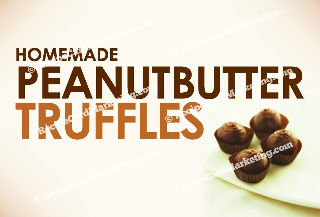 Peanut Butter Truffles Recipe Postcard