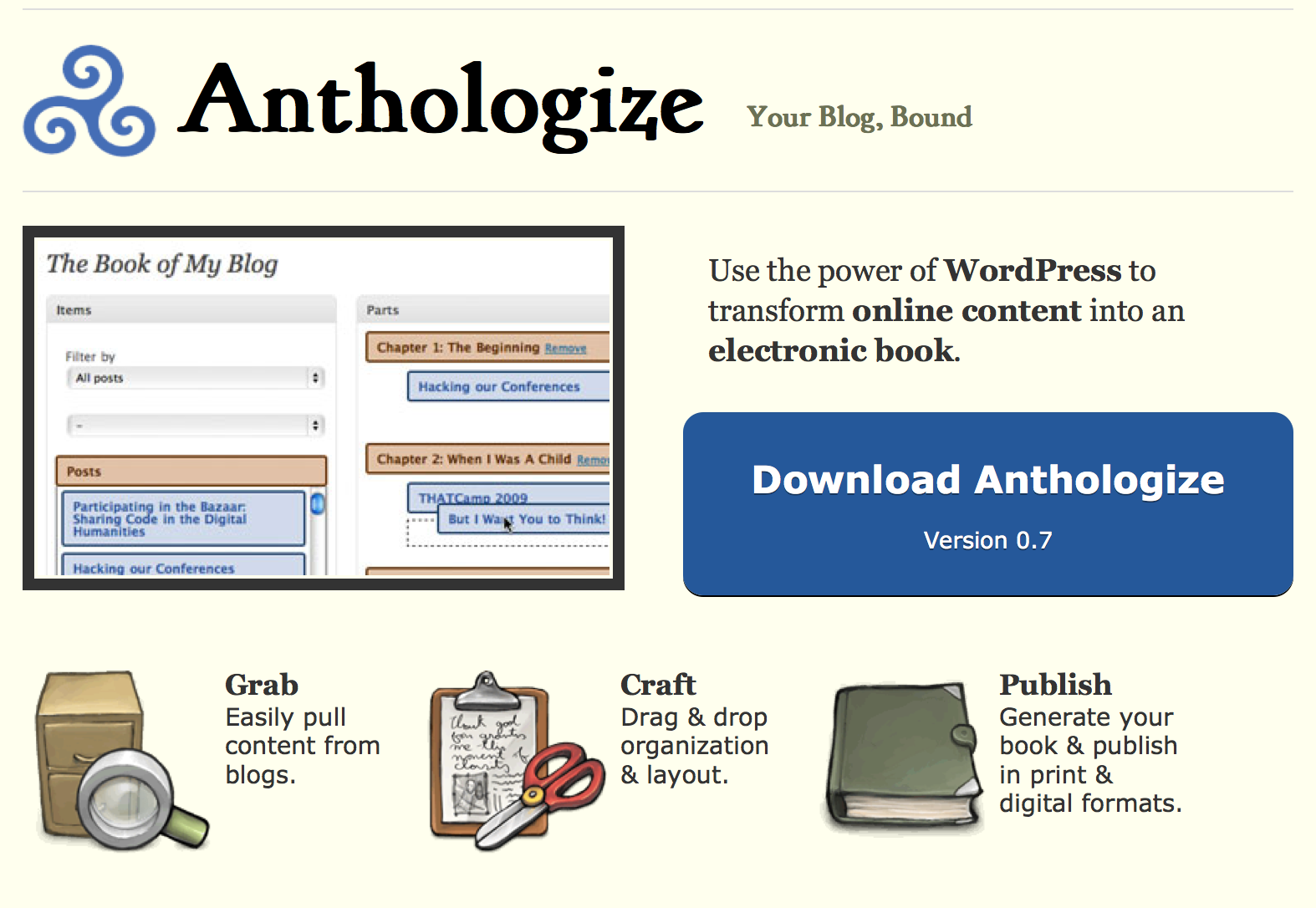 anthologize wordpress