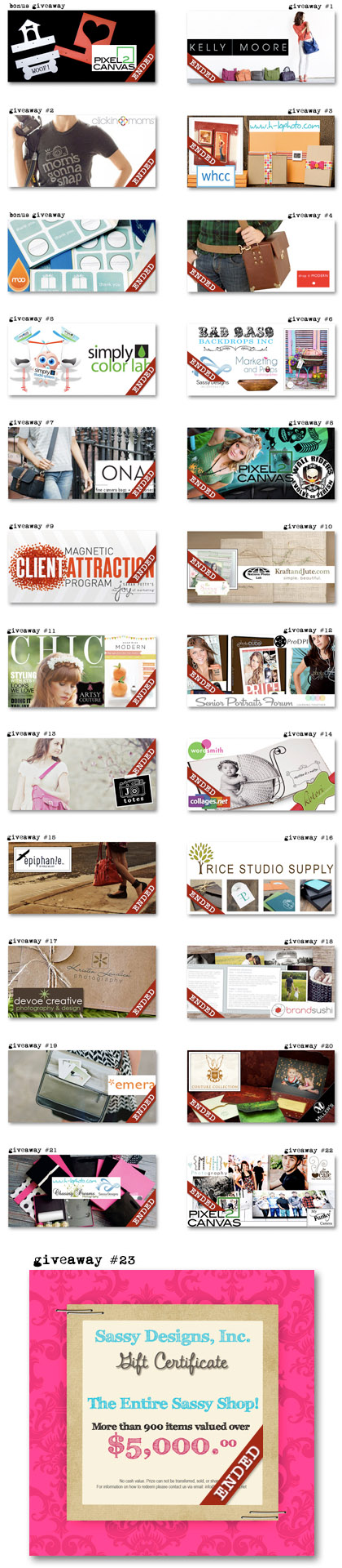 Paperie Boutique third birthday prize list