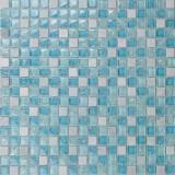 孔雀鱼 玻璃水晶加石材冰裂马赛克 KS36 孔雀鱼 玻璃水晶加石材冰裂马赛克 KS36