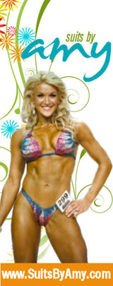 Female Bodybuilding, Fitness and Figure posing suits from Suits by Amy