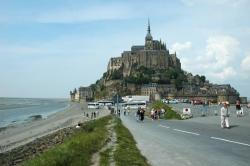 Mont Saint Michel and a parking lot