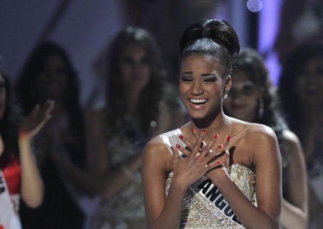 Emue aux larmes, Miss Angola n'en revient toujours pas d'avoir été élue Miss Univers. <em>SIPA</em>
