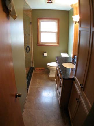 bathroom redesign after photo