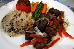Arabian mixed grill at the Hilton