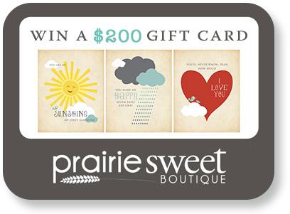 prairie sweet boutique gift card