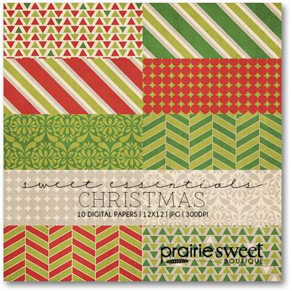 Prairie Sweet Boutique holiday digital papers