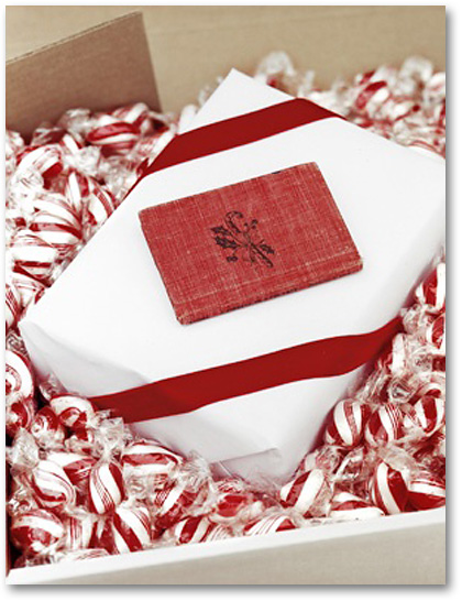 peppermint Christmas gift wrap
