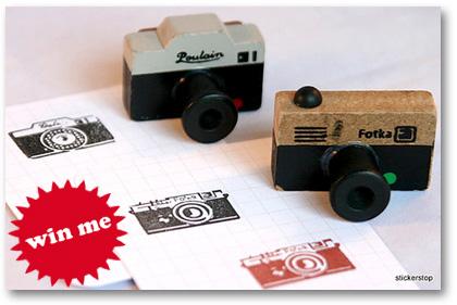 camera photographer ink stamp