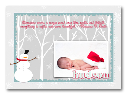 Christmas birth announcement wording example