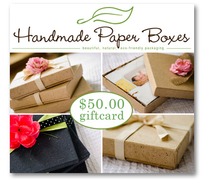 Handmade Paper Boxes gift card giveaway