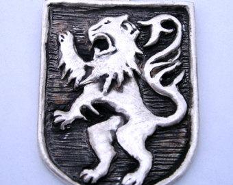 Lion Rampant Coat of Arms Pendant