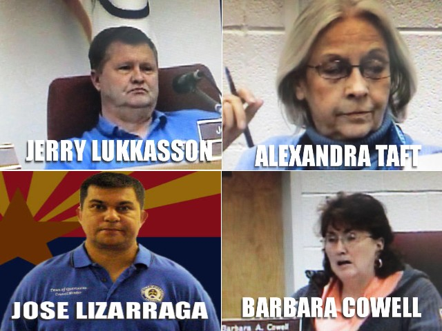 Documented meetings of council members and others were underway Tuesday amidst reports that police were organizing to battle corruption in Quartzsite.