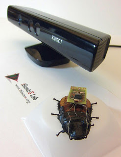 North Carolina State University researchers are using video game technology to remotely control cockroaches on autopilot, with a computer steering the cockroach through a controlled environment.