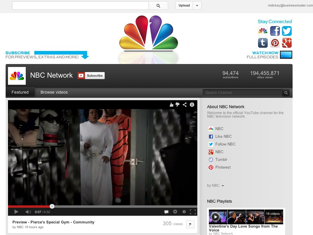 YouTube struck a deal with NBC in June 2006, helping the traditional media company enter the new digital age