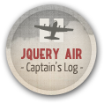 Completed jQuery Air: Captain's Log