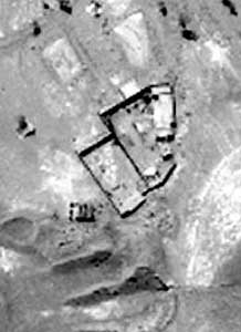 A US satellite photo of the Darunta camp.