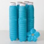 Teal Blue Fold Over Elastic